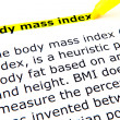 Body mass index (BMI) — Stock Photo