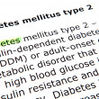 Diabetes mellitus type 2 — 图库照片