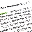 Diabetes mellitus type 2 — Stock Photo