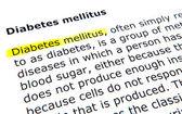 Diabetes mellitus — Stock Photo