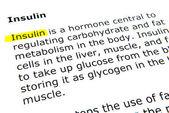 Insulin — Stock Photo