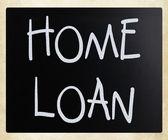 """Home loan"" handwritten with white chalk on a blackboard — Stock Photo"
