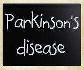 Parkinson's disease — Stock Photo
