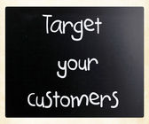 Target your customers — Foto Stock