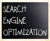 Optymalizacji pod kątem wyszukiwarek — Zdjęcie stockowe