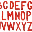 Hand painted red watercolor alphabet — Stock Photo #10249439