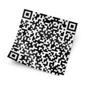 Qr kod ile etiket — Stok fotoğraf