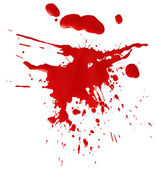 Blot of red blood — Stock Photo