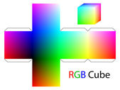 RGB cube — Stock Vector