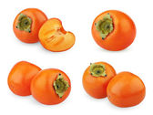Set of ripe persimmon isolated on white — Stock Photo
