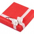 Royalty-Free Stock Photo: Red gift box with ribbon