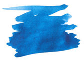 Blue watercolor paint stroke — Stock Photo