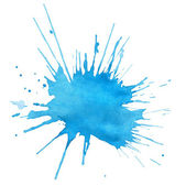 Blot of blue watercolor — Stock Photo