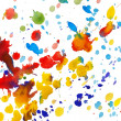 Abstract colorful watercolor splashes — Stock Photo