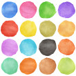Stock Photo: Abstract colorful watercolor circle