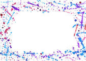 Abstract frame with colorful watercolor splashes — Stock Photo