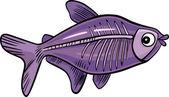 Cartoon x-ray fish — Stock Vector