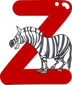 Z for zebra — Stock Vector