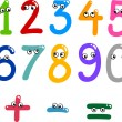 Royalty-Free Stock Vector Image: Funny numbers from zero to nine