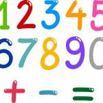 Numbers from zero to nine — Stock Vector