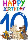 Eleventh birthday anniversary design — Stock Vector