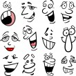 Cartoon emotions illustration - Stock Vector