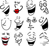 Cartoon emotions illustration — Vector de stock