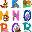 Royalty-Free Stock Vector Image: Cartoon Alphabet with Animals