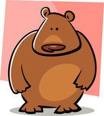 Doodle kreskówka niedźwiedź — Wektor stockowy