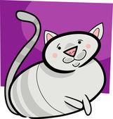 猫の漫画落書き — ストックベクタ