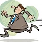 Running businessman — Stock Vector #8338137