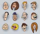 Cartoon gezichten — Stockvector