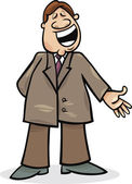 Cartoon man in suit — Stock Vector
