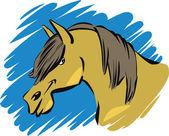 Cavallo divertente — Vettoriale Stock