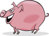 Cartoon pig — Vector de stock