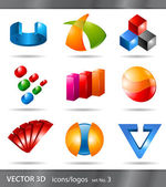 Set of icons or logos — Stock Vector