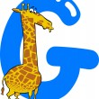 G for giraffe — Stock Vector