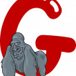 G for gorilla — Stok Vektör