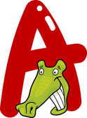 A for alligator — Stock Vector