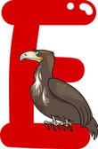 E för eagle — Stockvektor