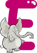 E for elephant — Stock Vector
