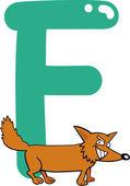 F for fox — Stock Vector