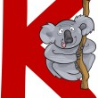 K for koala — Stock Vector #9938544