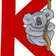 Stock Vector: K for koala