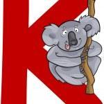 K for koala — Stock Vector