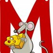 M for mouse — Stock Vector