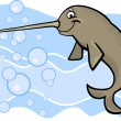 Royalty-Free Stock Vector Image: Cartoon narwhal