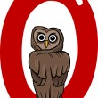 O for owl — Stock Vector #9970081