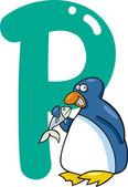 P per il pinguino — Vettoriale Stock