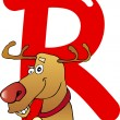 Stock Vector: R for reindeer